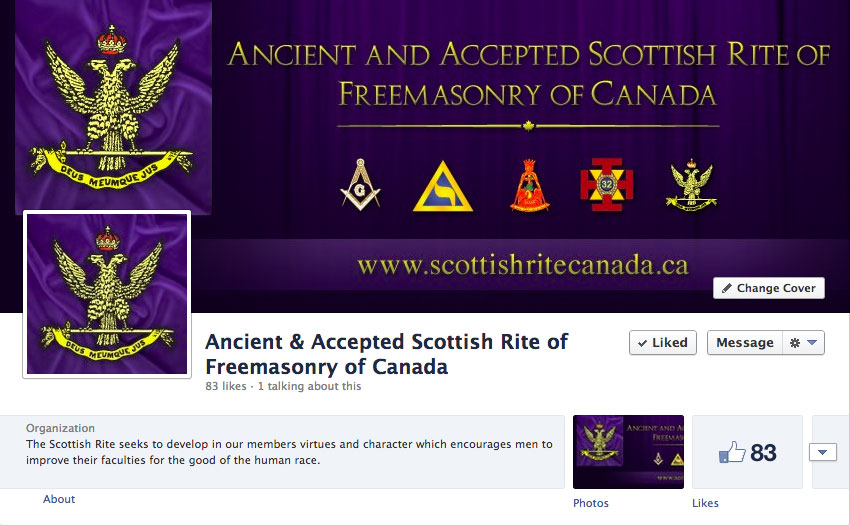 Ancient & Accepted Scottish Rite of Freemasonry of Canada Facebook Page